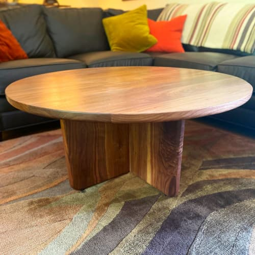 Worktable 03   Custom walnut coffee table with X-base   Tables by Workshop