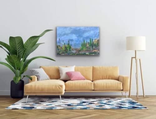 Paintings by Mireille Laroche seen at Creator's Studio, Ottawa - DUsk