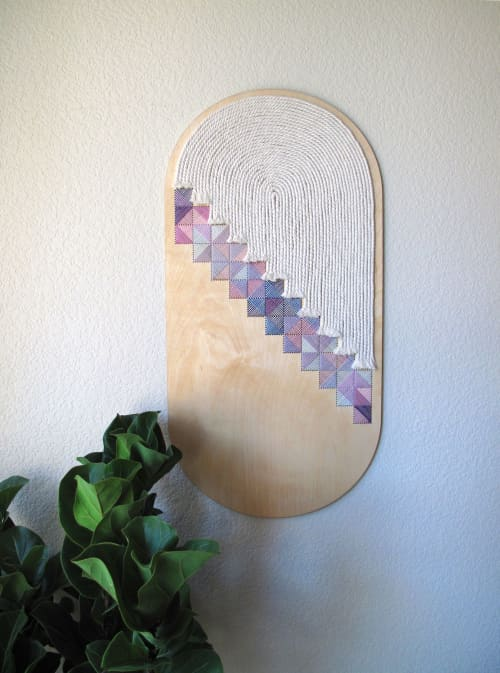 Curved Crosshatch no.1 | Wall Hangings by Nosheen iqbal