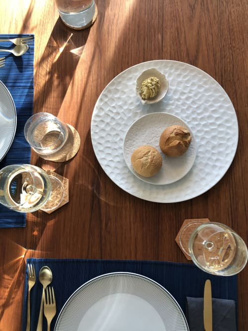 Texture plate Escamas | Ceramic Plates by Mieke Cuppen