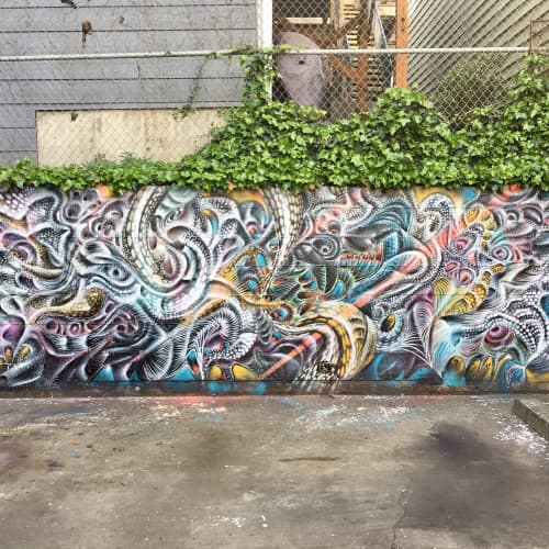 Street Murals by Max Ehrman (Eon75) seen at Lower Haight, San Francisco - Wall Pattern