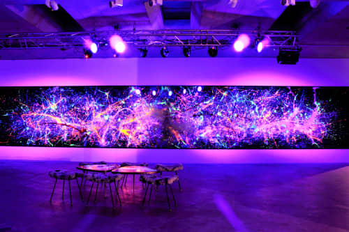 Paintings by Tommy Balogh Art seen at Ovolo Nishi, Canberra - Voyage: fingerprints of consciousness