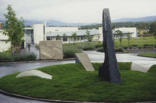 Public Sculptures by Martine Linge seen at Engebråten Middle School, Nordre Aker - Sundia sculpture