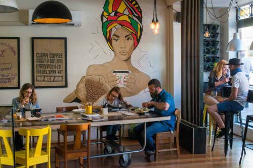 Ethiopian Beauty Mural | Murals by Agnieszka Sikorska-Meikle | Sweetbrew in Launceston