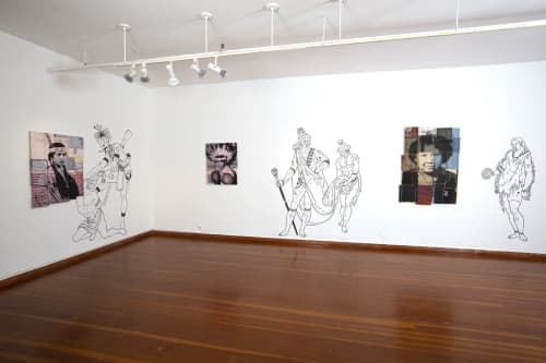 Art & Wall Decor by Keith Secola jr. seen at Mission Cultural Center for Latino Arts, San Francisco - Postcolonial Revenge