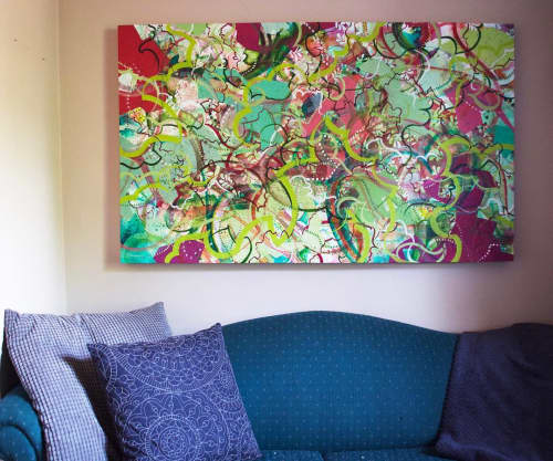 Paintings by Emilie Darlington seen at Private Residence, Ottawa - Overgrown