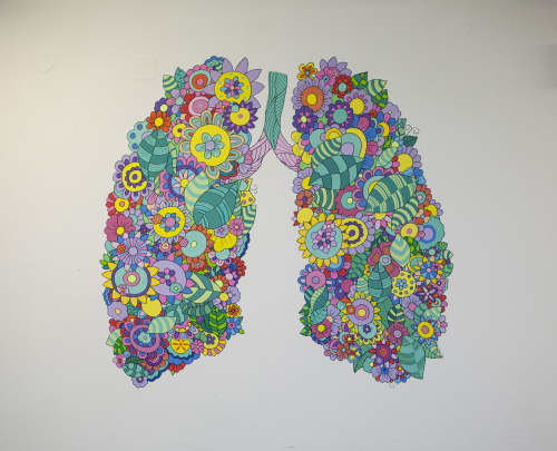 Murals by Melinda Šefčić at Clinic for Lung Diseases, Zagreb - Inhale life