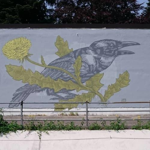 Grammatica naturale Mural   Murals by Luca Maleonte