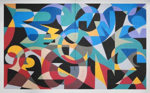 MWM Letterforms. | Murals by MATT W. MOORE | Oxbow Blending & Bottling in Portland