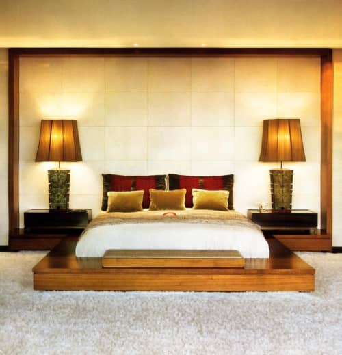 Lamps by Lawrence & Scott seen at Private Residence, Los Angeles - Archaic Bronze Patina Table Lamps