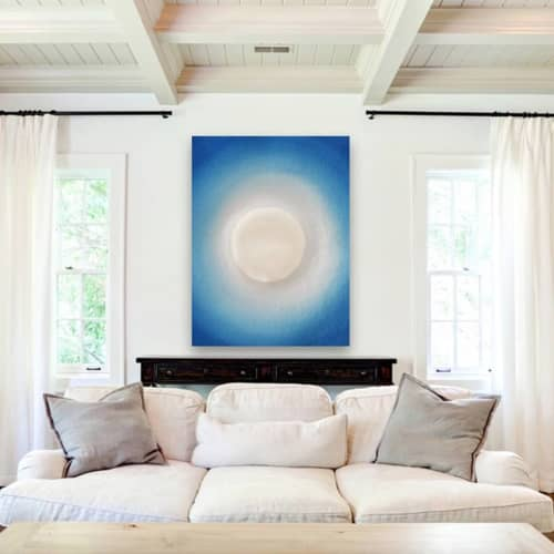 Paintings by Shelly Floyd - Blue and White