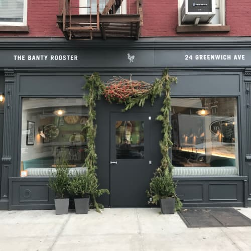 Exterior signage and gold leaf | Signage by Very Fine Signs | The Banty Rooster in New York