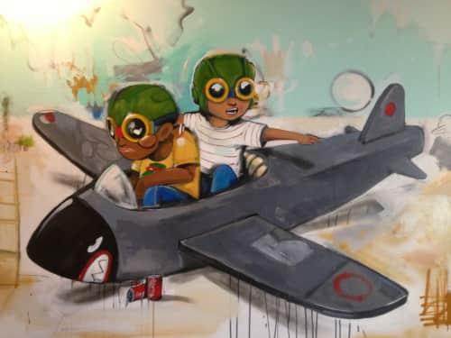 Hebru Brantley - Murals and Street Murals