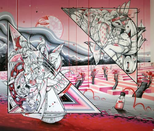 How and Nosm (Raoul and Davide Perre) - Street Murals and Public Art