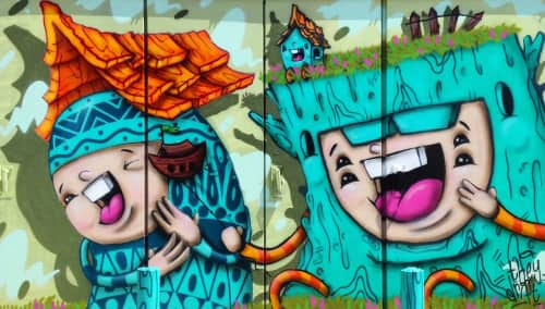 Ksra and Carlos Aguilar (They Drift) - Street Murals and Public Art
