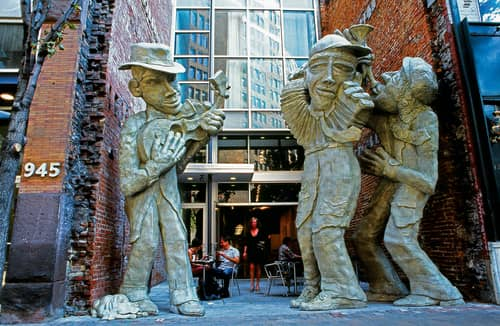 Liberty Avenue Musicians  Downtown Pittsburgh - Public Sculptures and Public Mosaics