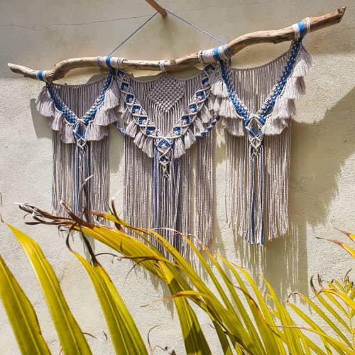 Knotted Hart - Macrame Wall Hanging and Art