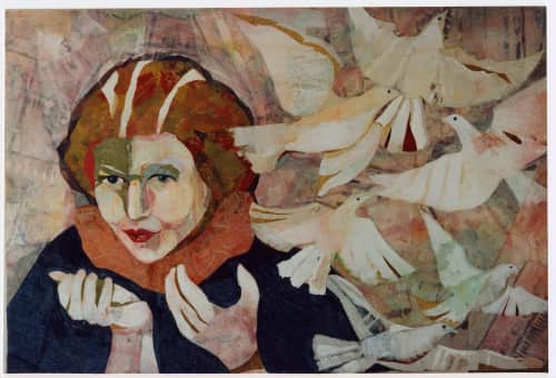 Sandy Oppenheimer Collage - Paintings and Art