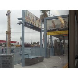 Expo/Western Lightrail Station, Los Angeles.